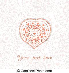 floral, hart, bloemen, gemaakt, heart.