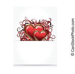 floral, hartjes, grunge, romantische, brief