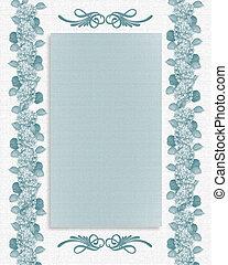 floral határ, kék