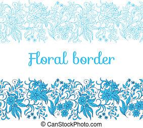 floral határ, seamless