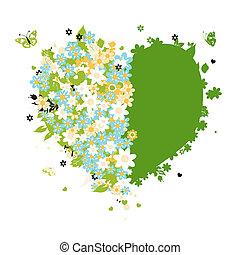 Floral heart shape for your design