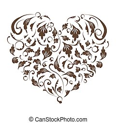Floral heart shape for your design
