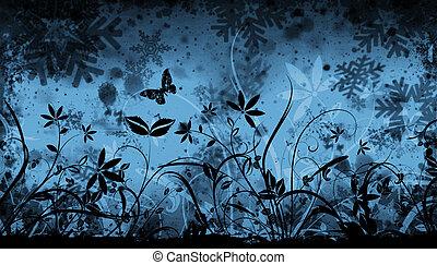 floral, hiver
