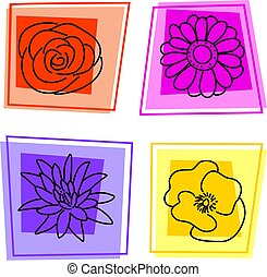 floral, iconen