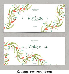 floral invitation cards for your design