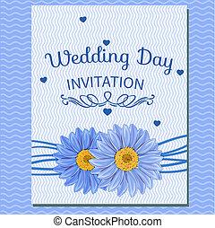 floral invitation greeting card