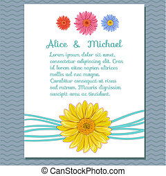 Floral invitation greeting card.