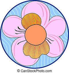 Floral Japanese ornament