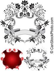 floral, jas, armen, vector