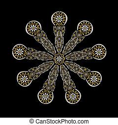 Floral jewelry ornament conceptual design