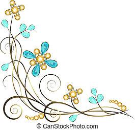jewelry pattern border - Floral jewelry pattern border...