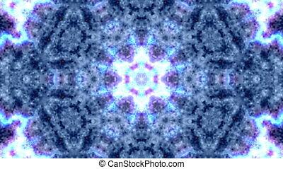 Floral, kaleidoscopic  animation - seamless loop
