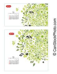 floral, kalender, 2014, mei