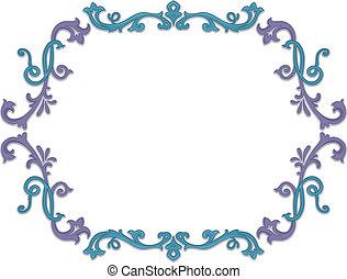 floral klimplant, frame