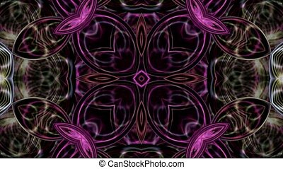 floral, kristal, textuur, glas