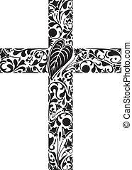 floral, kruis