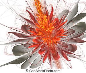 floral kunst, achtergrond, abstract, fractal, projecten
