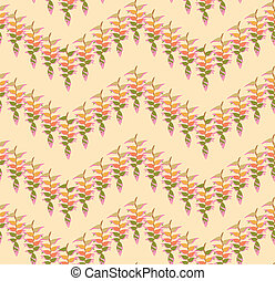 Floral leaves pattern. Seamless background. Nature swirl leaf ornament