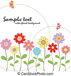 floral, lente, zomer, kleurrijke, butte