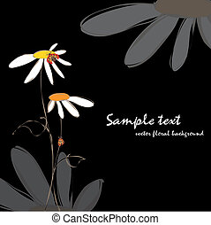 floral, lente, zomer, ladybirds