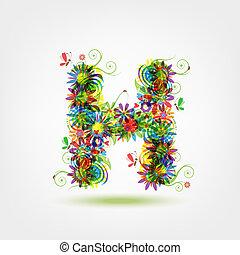 Floral letter for your design