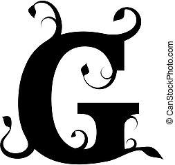 floral, lettre g