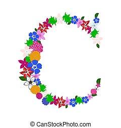 floral, lettre