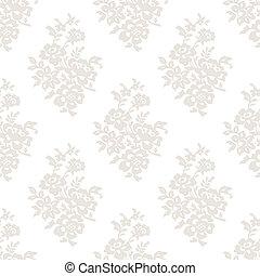 floral, licht, behang, seamless