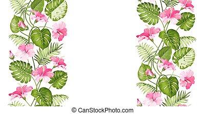 Floral linear tile design.