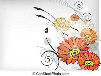 floral, linha arte