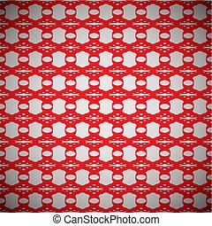 floral link wallpaper red