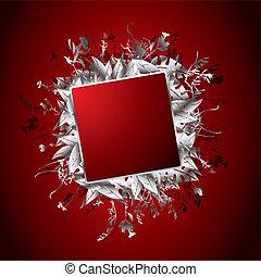 floral lobogó, piros