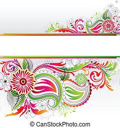 floral lobogó, színes