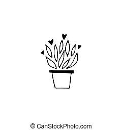 Floral logo element