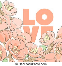 Floral lovely illustration - Bright beautiful floral...