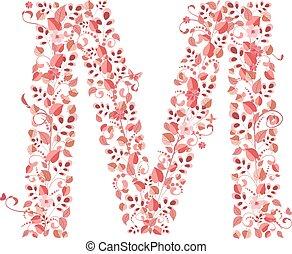floral, m, romanticos, letra