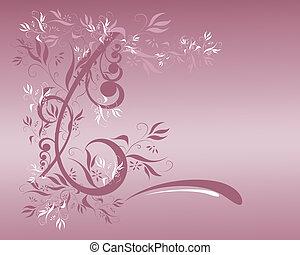 floral, malva