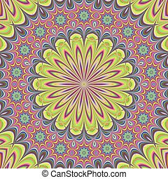 Floral mandala design background