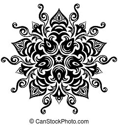 floral, mandala, pattern.