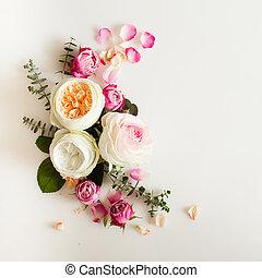 floral, marco, boda