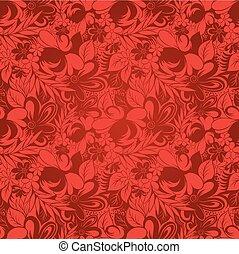 floral, marrom, abstratos, seamless, fundo