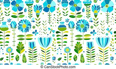 Floral meadow, seamless pattern for your design. Vector ...