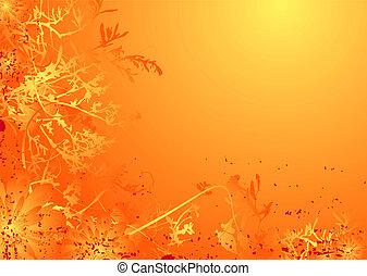 floral mellow orange