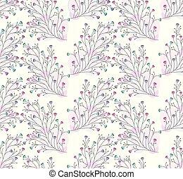 floral, mignon, papier peint, seamless, coloré