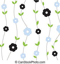 floral, mignon, seamless, fond