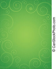 floral model, abstract, groene, frame