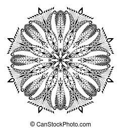 floral model, caleidoscopisch