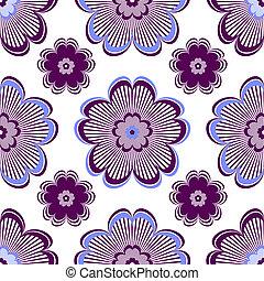 floral model, levendig, seamless, viooltje