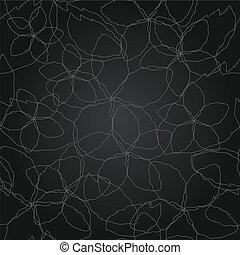 floral model, lijn, seamless, zilver