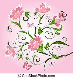 floral model, met, cloves
